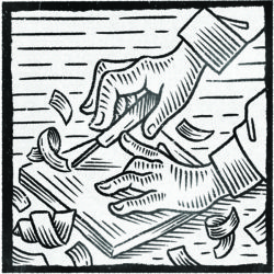 Relief Printing illustration by Paul Twa
